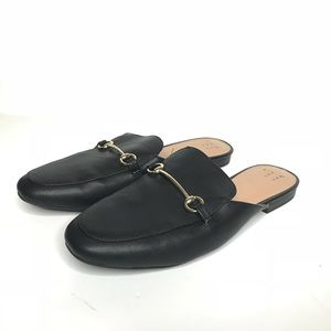 A New Day Sz 8 Black Slip on Loafer